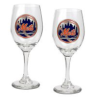 New York Mets 2-pc. Wine Glass Set