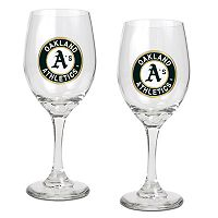 Oakland A's 2-pc. Wine Glass Set