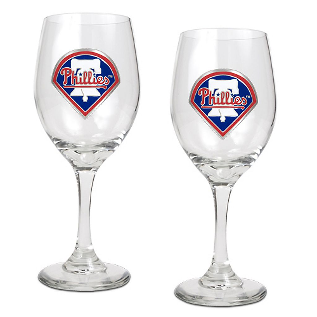 Philadelphia Phillies 2-pc. Wine Glass Set