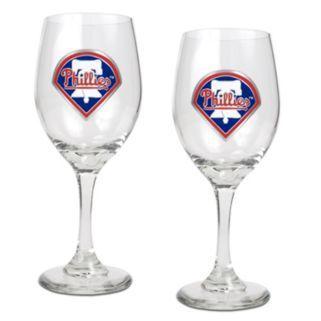 Philadelphia Phillies 2-pc. Wine Glass Set