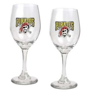 Pittsburgh Pirates 2-pc. Wine Glass Set