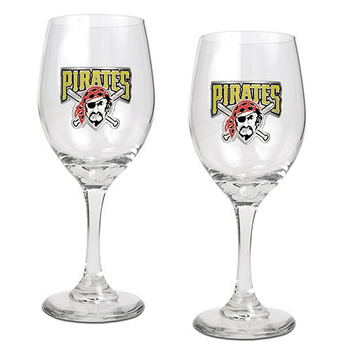 Pittsburgh Pirates 2-pc. Wine Glass Set