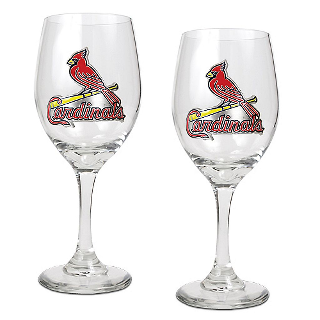 St. Louis Cardinals 2-pc. Wine Glass Set