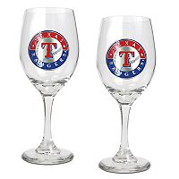 Texas Rangers 2-pc. Wine Glass Set