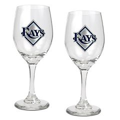 Tampa Bay Rays 2-pc. Wine Glass Set