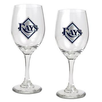 Tampa Bay Rays 2-pc. Wine Glass Set
