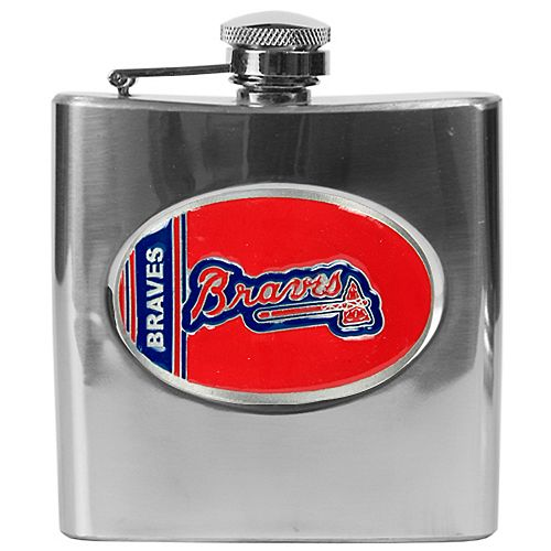 Atlanta Braves Stainless Steel Hip Flask