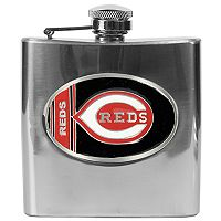 Cincinnati Reds Stainless Steel Hip Flask