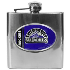 Colorado Rockies Stainless Steel Hip Flask