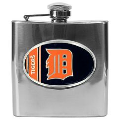 Detroit Tigers Stainless Steel Hip Flask