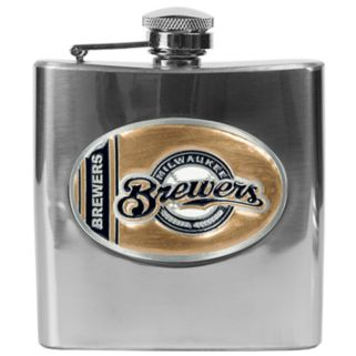 Milwaukee Brewers Stainless Steel Hip Flask