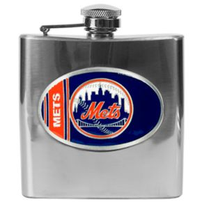 New York Mets Stainless Steel Hip Flask