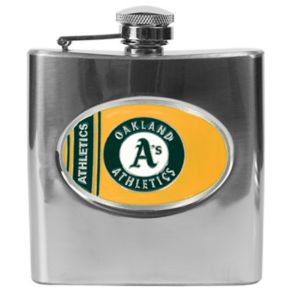 Oakland Athletics Stainless Steel Hip Flask