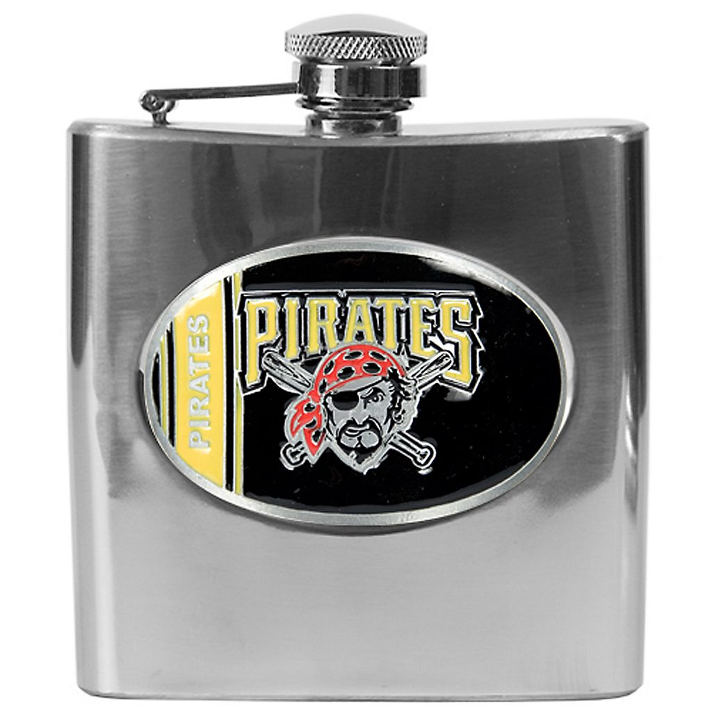 Pittsburgh Pirates Stainless Steel Hip Flask