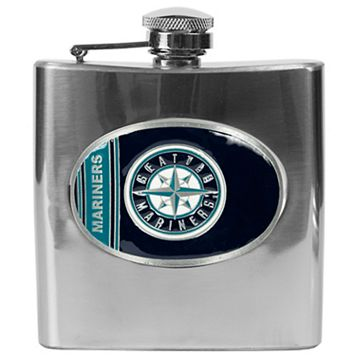 Seattle Mariners Stainless Steel Hip Flask