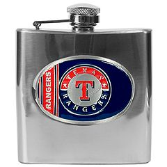 Texas Rangers Stainless Steel Hip Flask