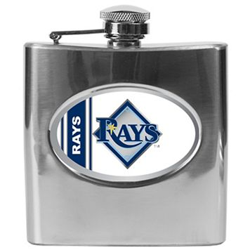 Tampa Bay Rays Stainless Steel Hip Flask