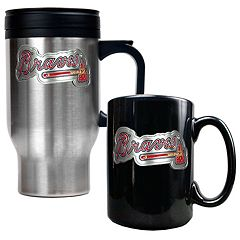Atlanta Braves 2 pc Travel Mug Set