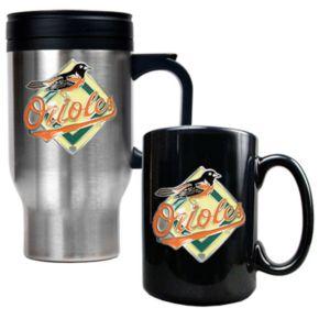Baltimore Orioles 2-pc. Travel Mug Set