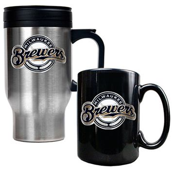 Milwaukee Brewers 2-pc. Travel Mug Set