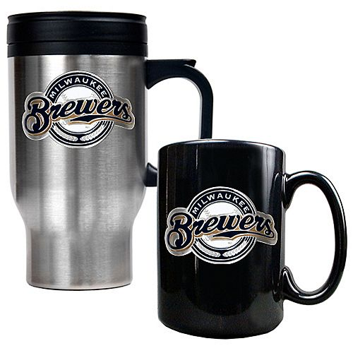 Milwaukee Brewers 2-pc. Travel Mug Set
