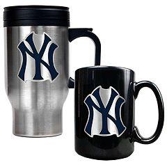 New York Yankees 2-pc. Travel Mug Set