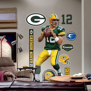 Fathead® Green Bay Packers Aaron Rodgers Wall Decal