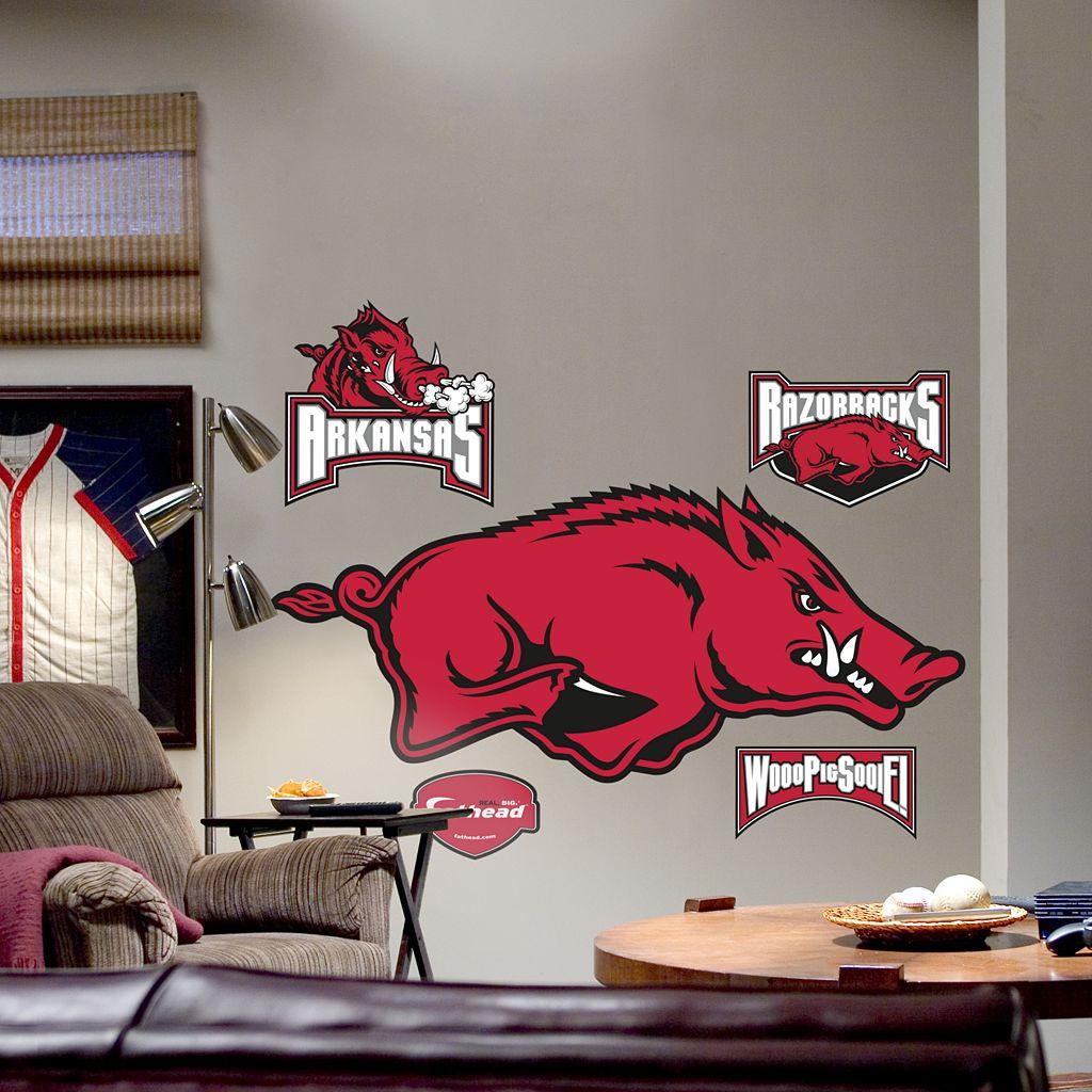 Fathead® Arkansas Razorbacks Logo Wall Decal