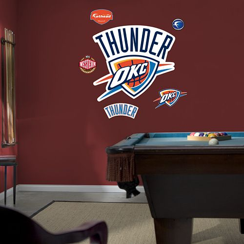 Fathead Oklahoma City Thunder Logo Wall Decal