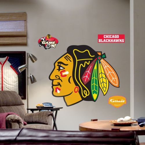 Fathead Chicago Blackhawks Logo Wall Decal