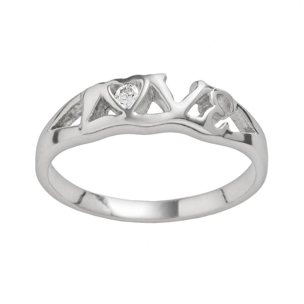 Rhodium-Plated Sterling Silver Cubic Zirconia