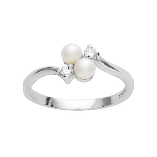 Sterling Silver Cultured Pearl Ring
