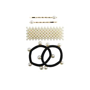 Girls Elli by Capelli 5-pack Pearl Hair Accessories