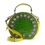 AmeriLeather Jetta Embellished Leather Crossbody Bag