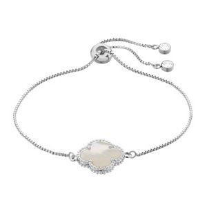Silver Mama Sterling Silver Quatrefoil Adjustable Bracelet