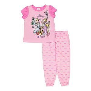 Disney Princess Toddler Girl 2-Piece Pajama Set