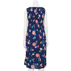 Petite Croft & Barrow® Smocked Challis Dress