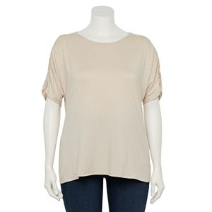 Plus Size EVRI? Ruched Sleeve Top