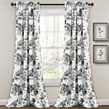 Lush Decor French Country Toile Room Darkening Window Curtain Set