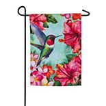 Hummingbird Garden Outdoor Flag