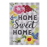 Home Sweet Home Floral Outdoor Flag
