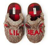 """Kids' Dearfoams """"Lil Bear"""" Faux Fur Scuff Slippers"""