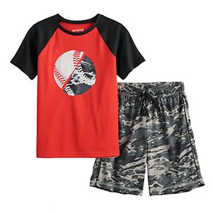 Boys 4-8 Jumping Beans® Sports Raglan Tee & Shorts Active Set