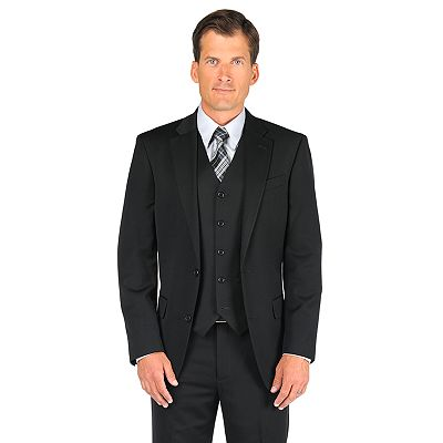 Dockers Black Herringbone Suit Jacket