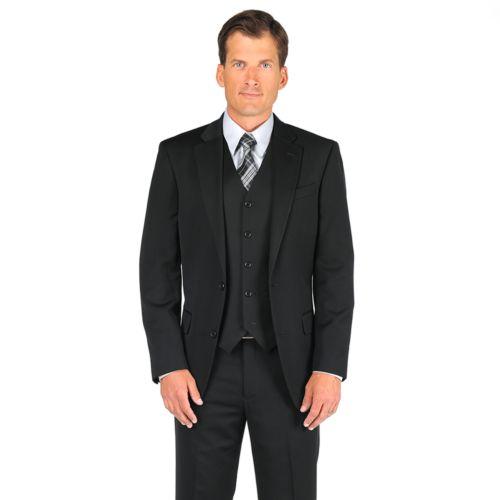 Dockers® Herringbone Striped Black Suit Jacket