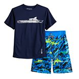 Boys 8-20 ZeroXposur Graphic Top & Shorts Swim Set