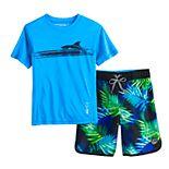 Boys 4-7 ZeroXposur Graphic Top & Shorts Swim Set