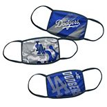 Youth Los Angeles Dodgers Face Covering 3-Pack