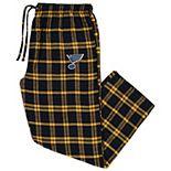 Men's Concepts Sport Navy/Gold St. Louis Blues Big & Tall Parkway Flannel Pants
