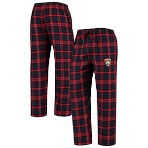 Men's Concepts Sport Red/Navy Florida Panthers Parkway Flannel Sleep Pants